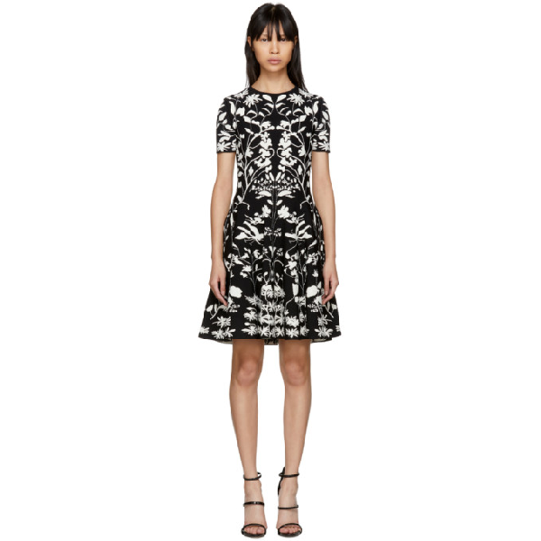 59e8c18b654ac Alexander Mcqueen Short-Sleeve Fit-And-Flare Botanical Jacquard Cocktail  Dress In 1061