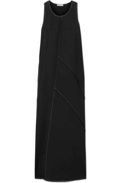 The Row Didi Paneled Stretch-Cady Maxi Dress In Black