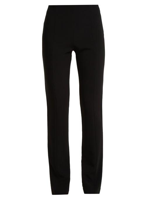 The Row Docu Stretch-Cady Slim Pants - Black