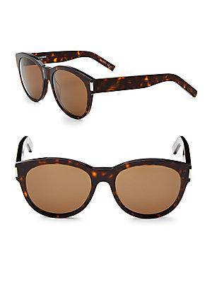 c1a6ffd957e Saint Laurent 54Mm Round Sunglasses In Dark Havana | ModeSens