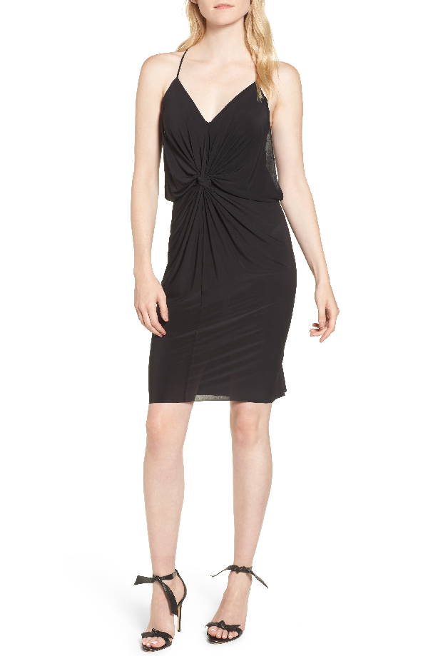 7a478b49f934 Misa Domino Short Slinky Jersey Cocktail Dress In Black | ModeSens