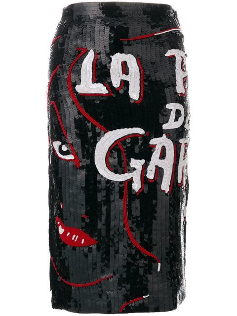 Olympia Le-tan La Pire Des Garces Skirt With Sequins In Black
