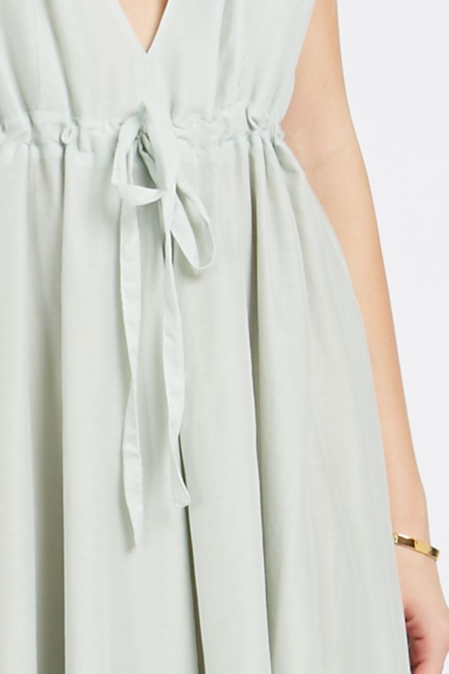 c1fa6702ee Kalita Deep V-Neckline Silk And Cotton-Blend Maxi Dress
