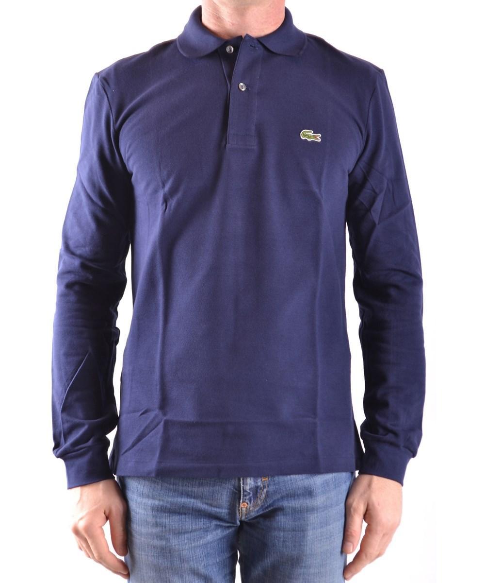 Lacoste Men's  Blue Cotton Polo Shirt