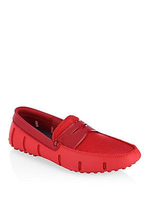 Swims Penny Slot Loafers In Red
