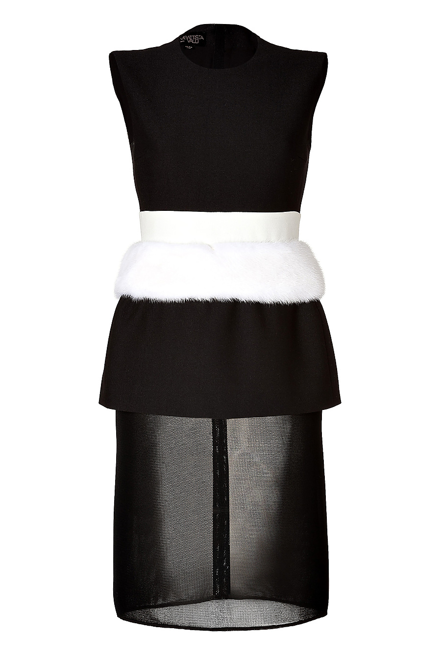 b16d5211021dfc Giambattista Valli Mink Waist Wool-Silk Blend Dress