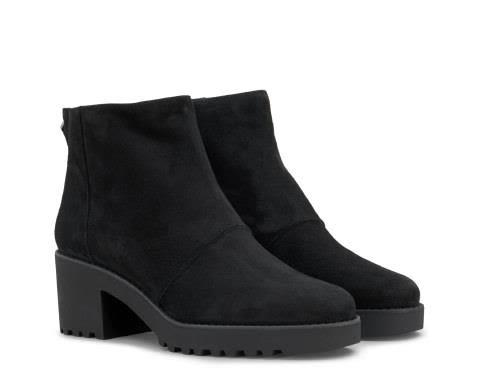 Hogan Rear Zip Ankle Boots In Black