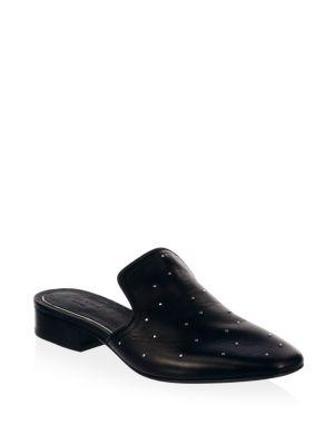 6fa90289ecb Rag   Bone Luis Studded Leather Loafers In Black
