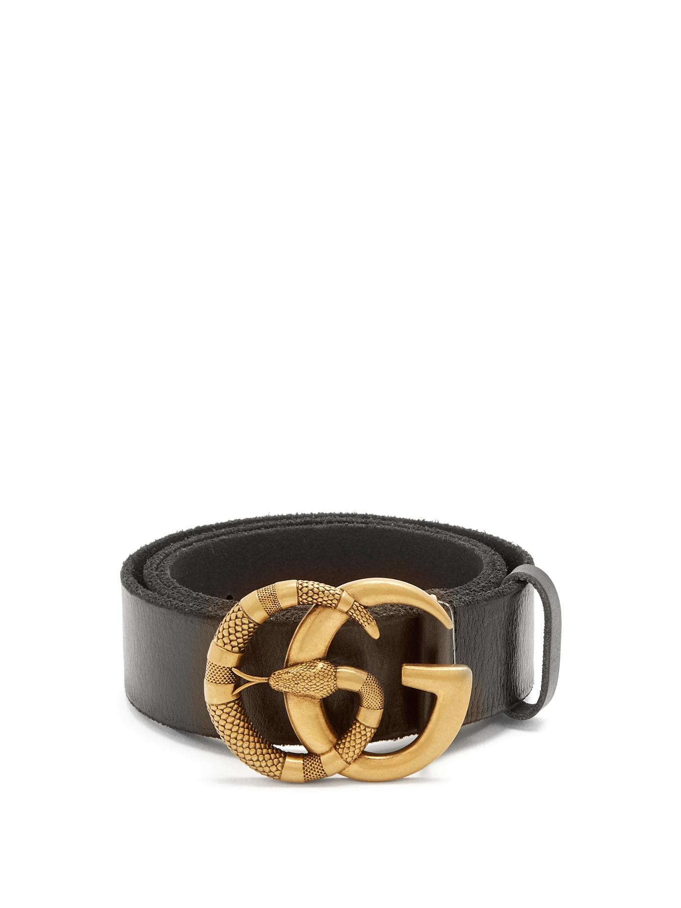 6d7d4c2b2edb Gucci Gg Running Snake-Embossed Leather Belt In Black | ModeSens
