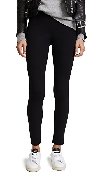6a4f0ac67f9fe James Perse Cropped Stretch-Scuba Leggings In Black | ModeSens