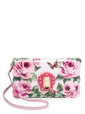7a3e5412 Dolce & Gabbana Rose & Butterfly Print Evening Clutch In Rose-Butterfly