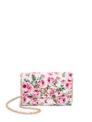 2f721e41 Dolce & Gabbana Rose Printed Dauphine Leather Clutch In Multicoloured
