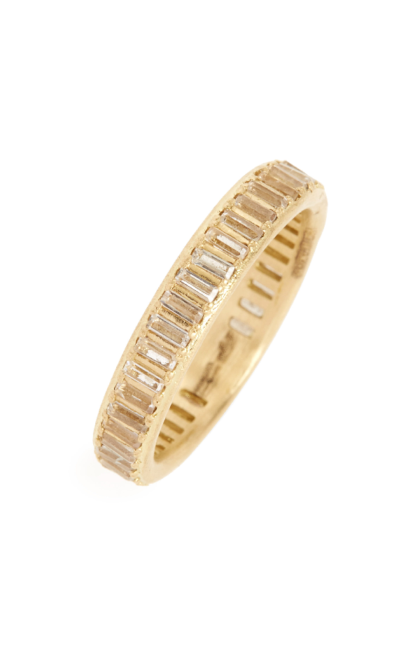 18K Yellow Gold Sueno Channel-Set White Sapphire Eternity Ring