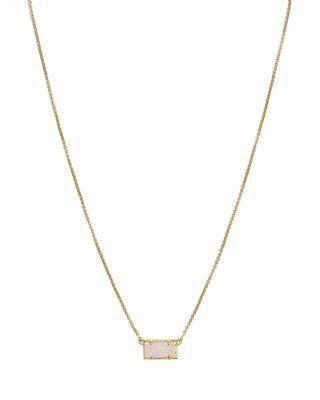 Kendra Scott Pattie Necklace, 16 In Gold/iridescent Drusy
