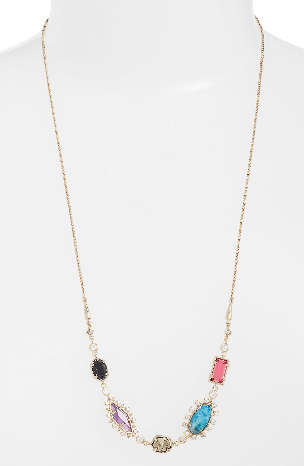 Kendra Scott June Convertible Necklace In Multi/ Brass