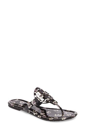 045b6466c933 Tory Burch Miller Leather Logo Flat Slide Sandal In Poppy Rouge ...