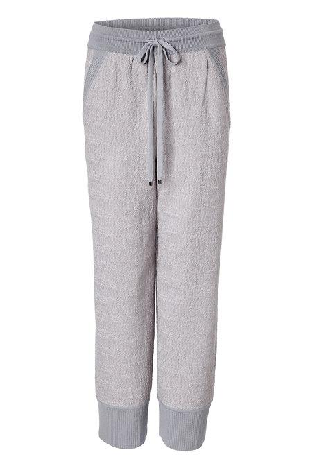 Missoni Wool Blend Knit Pants In Grey