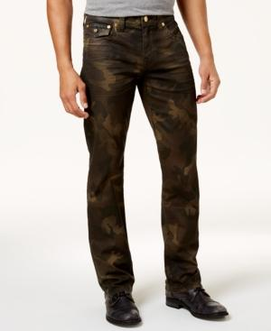 True Religion Ricky Rough Turf Relaxed Fit Jeans In Camouflage