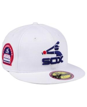 save off 7c9ae d9cd7 New Era Chicago White Sox The Ultimate Patch Collection Stadium 59Fifty Cap  In White White