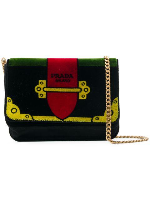 480e6bb2ab0225 Prada Cahier Cartoon Crossbody Bag In Black   ModeSens