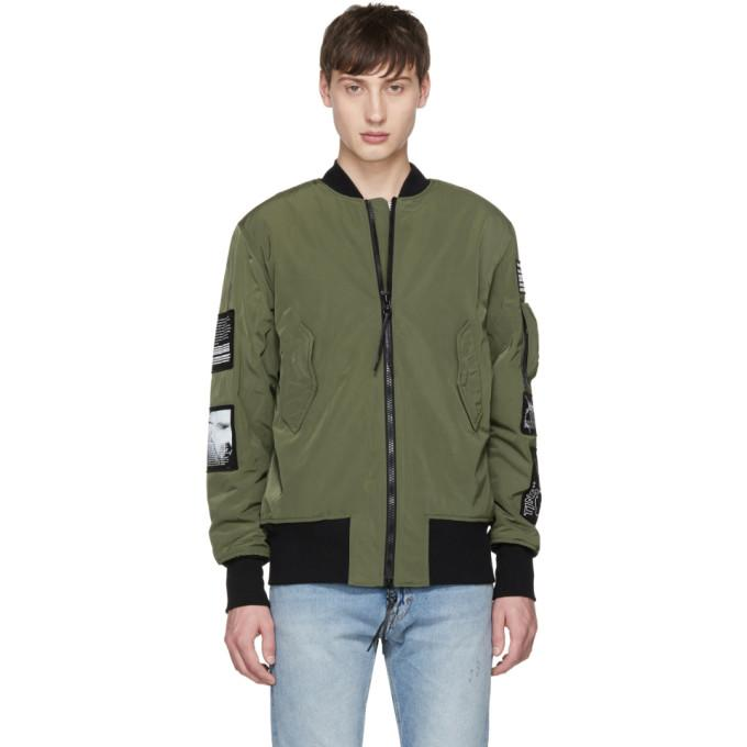 4a69cac75 Green Sob Patches Bomber Jacket