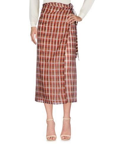 Miu Miu 3/4 Length Skirts In Maroon