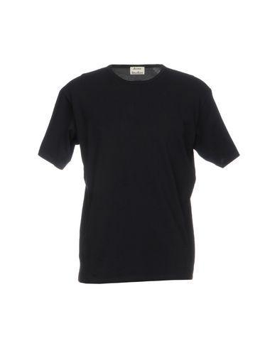 Acne Studios Black Cotton T-Shirt In Dark Blue