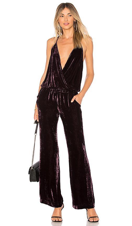 afe34c5db719 Young Fabulous   Broke Naomi Velvet Jumpsuit In Purple
