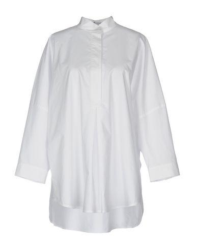 T By Alexander Wang Solid Color Shirts & Blouses In White