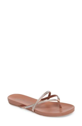 fb1e071f9181 Pedro Garcia Giulia Crystal Embellished Sandal In Bisque Satin ...