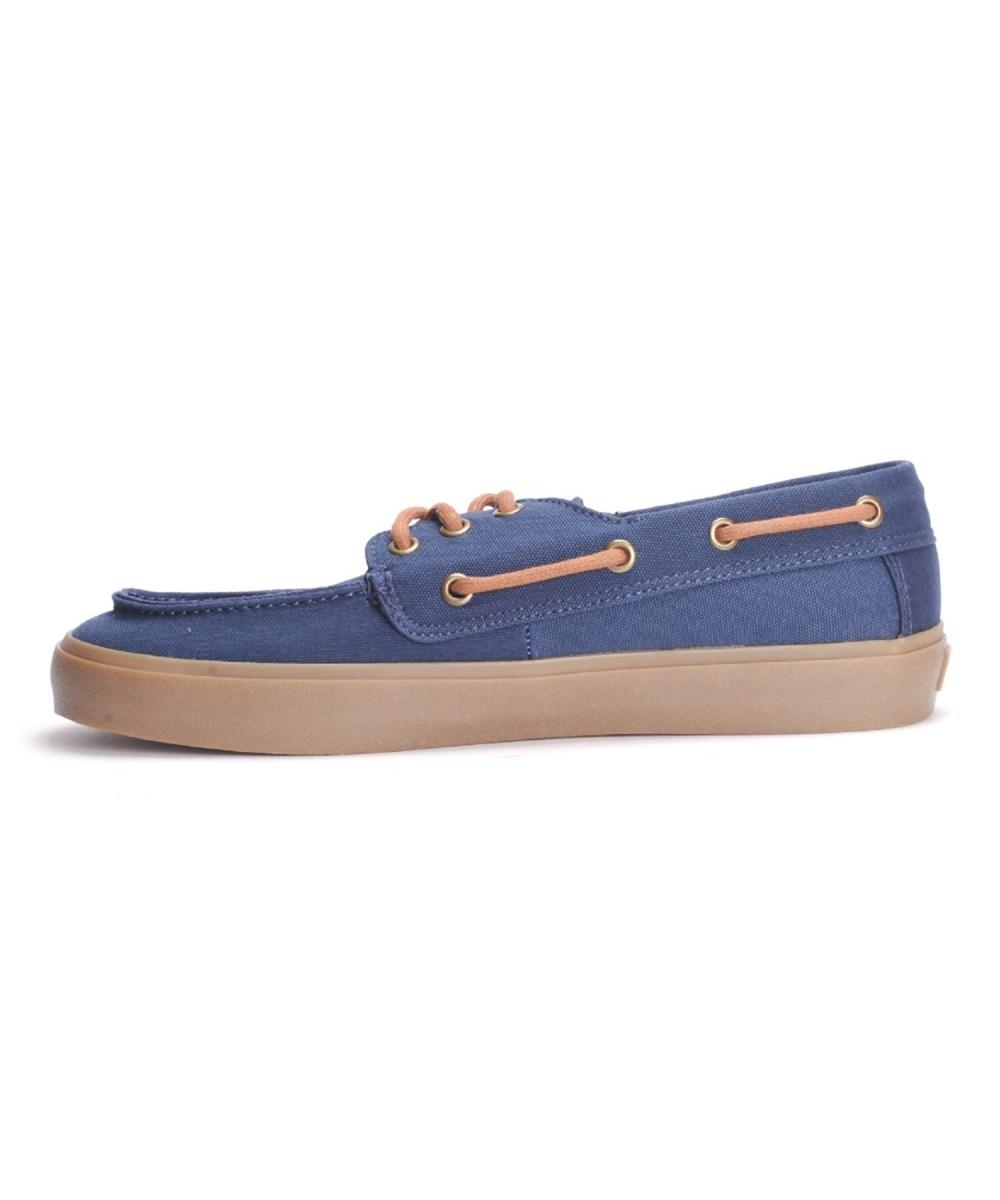 3af460374f Vans Mens Chauffeur Sf Fabric Closed Toe Boat Shoes In Blue
