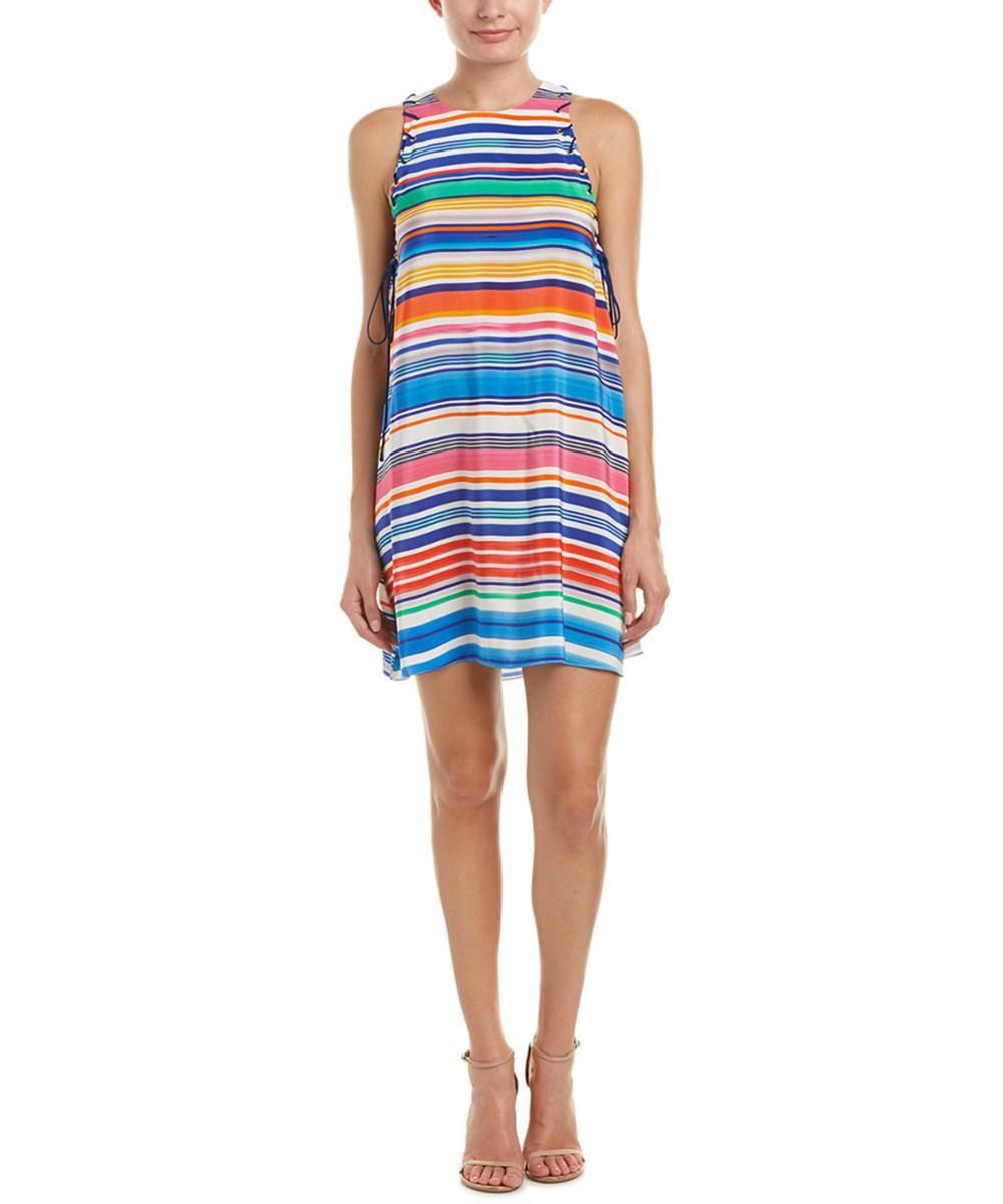 Amanda Uprichard Allegra Silk Shift Dress In Multi