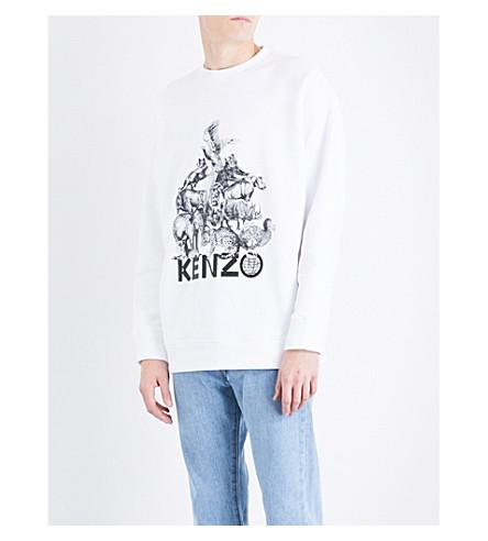 0ea871adb9f Kenzo La Collection Memento N Deg 1 Jungle Sweatshirt In White ...