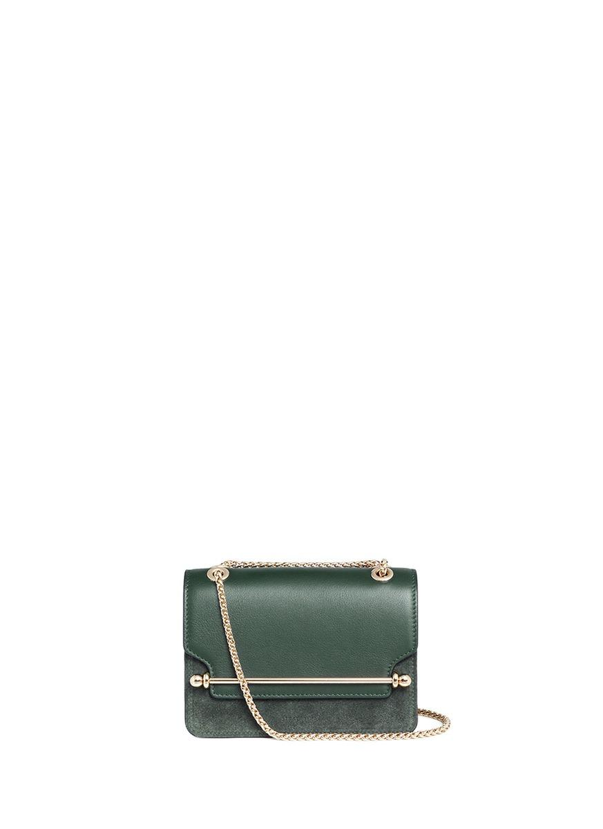 6daea98ae Strathberry 'East/West' Mini Leather Flap Suede Crossbody Bag | ModeSens