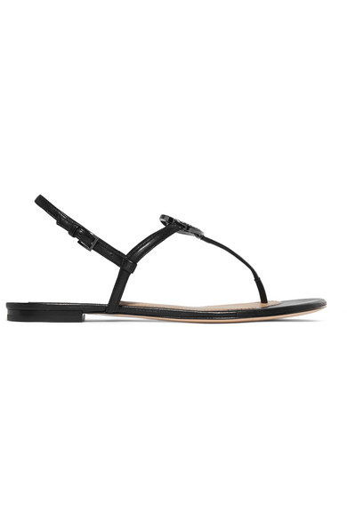 05841f88e Tory Burch Liana Crystal-Embellished Leather Sandals In Black | ModeSens