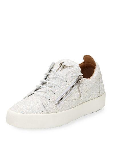 be83bb2745c6c Giuseppe Zanotti May Coarse Glitter Platform Sneakers In Pink | ModeSens