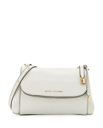 bb6d49b65f Marc Jacobs Boho Grind Pebbled Leather Crossbody Bag In White Glow ...