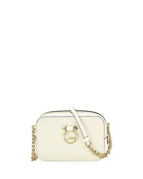 9001cdda926 Ruby Lou Mini Calf Crossbody Bag in White