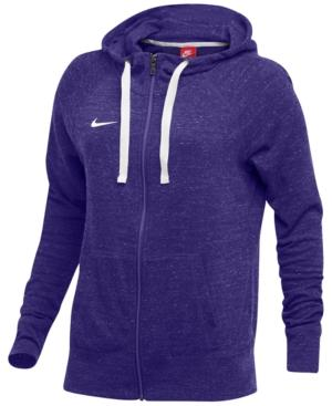 Nike Gym Vintage Hoodie In Team Purple