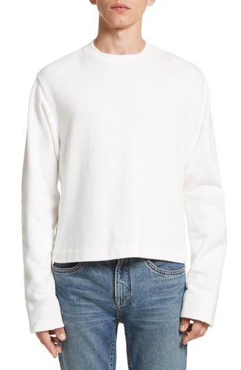 4efac1884b29 Helmut Lang Rib Detail Crewneck Sweater In White