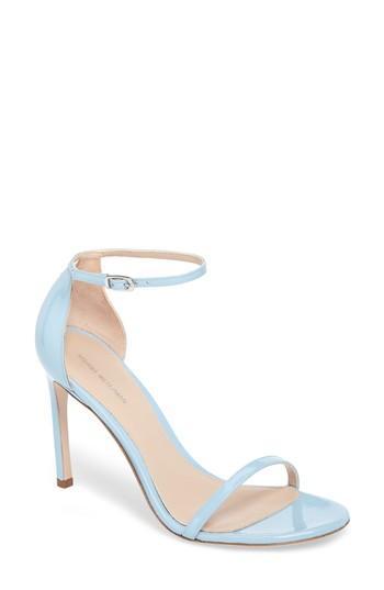 2806f92d7e89 Stuart Weitzman Nudistsong Ankle Strap Sandal In Azure Aniline ...