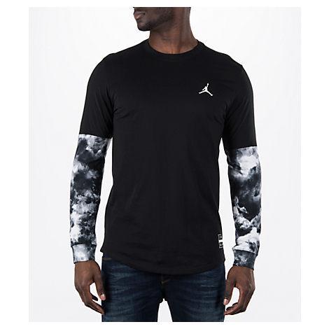 681a0676806 Nike Men's Air Jordan Clouded Nightmare Long-Sleeve T-Shirt, Black ...