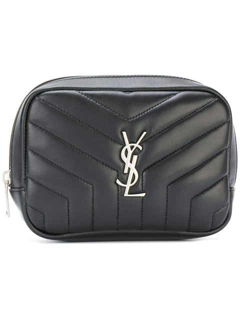 743e0c792b07 Saint Laurent Loulou Monogram Ysl Square Quilted Leather Cosmetics Case In  Black