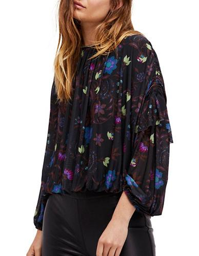 Free People Wild Flower Honey Top-black