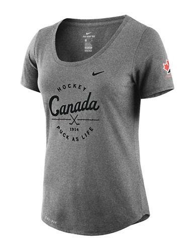 Nike Team Canada Dry Tee-charcoal