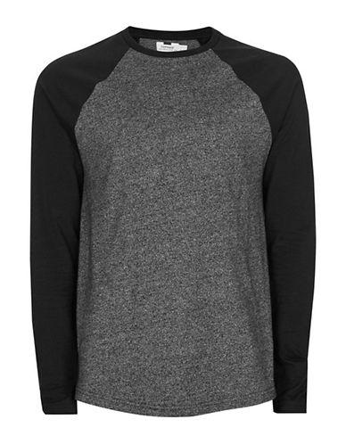 Topman Raglan Long Sleeve T-shirt-black