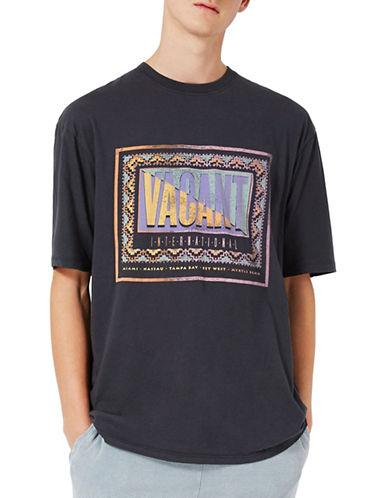 Topman Vacant Washed Oversized T-shirt-black