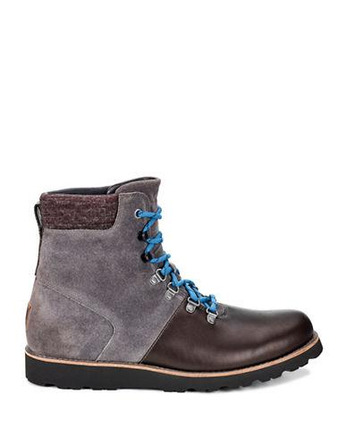 Ugg Halfdan Waterproof Suede Ankle Boots-charcoal