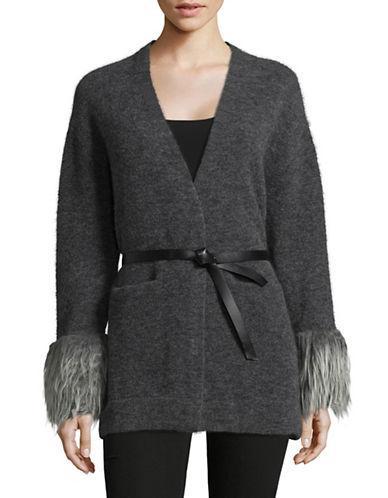Tomorrowland Wool-blend Cardigan-grey