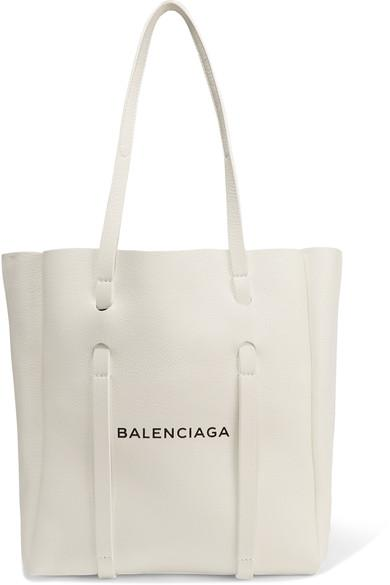 Balenciaga Small Printed Textured-leather Tote